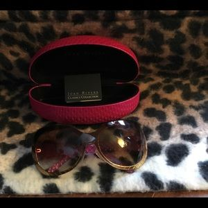 Joan Rivers Pink Bee Fashion Sunglasses
